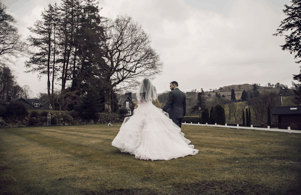 Outdoor wedding ceremony at Broadoaks Country House