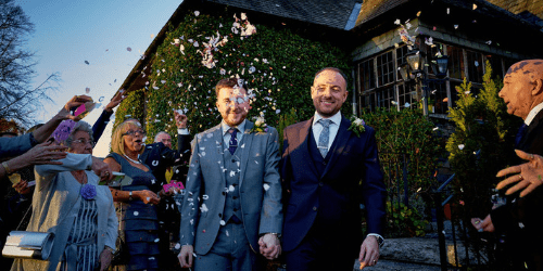 Gay couple wedding venue lake district