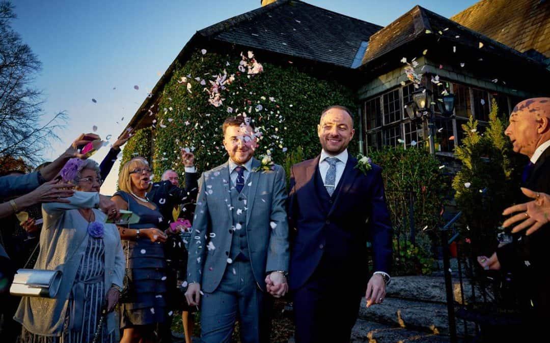 Two Grooms' Winter Wedding Dream at Broadoaks