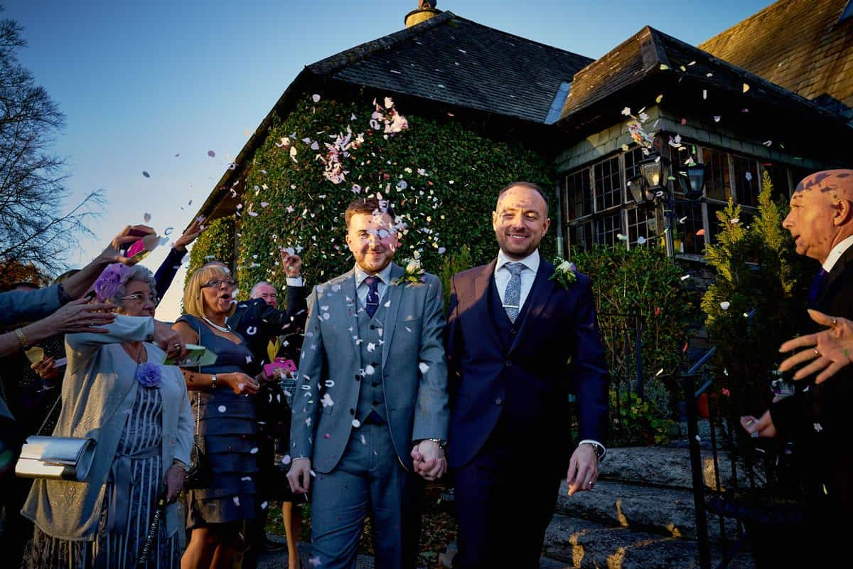Two grooms tie the knot at Broadoaks in the Lake gay-friendly wedding venue