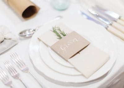 Groom placemat wedding stationery ideas