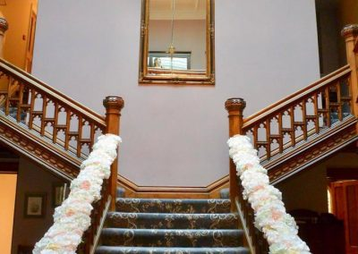 Wedding venue docor stair case by Diamond Hire