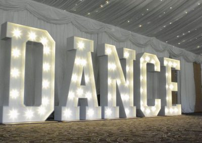 Dance led sign by Diamond Hire