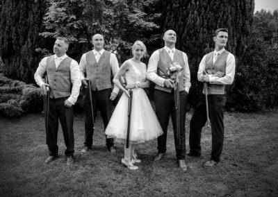 wedding clay pigeon shooting in the Lake District