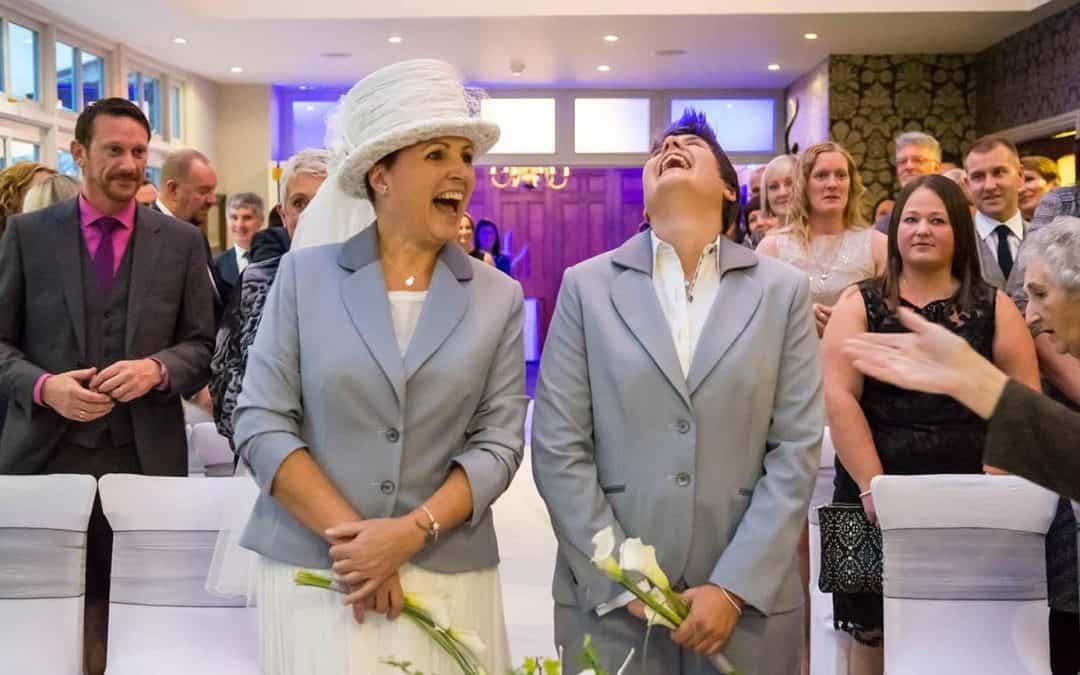Claire & Julie's Vodka Wonderland Wedding at Broadoaks