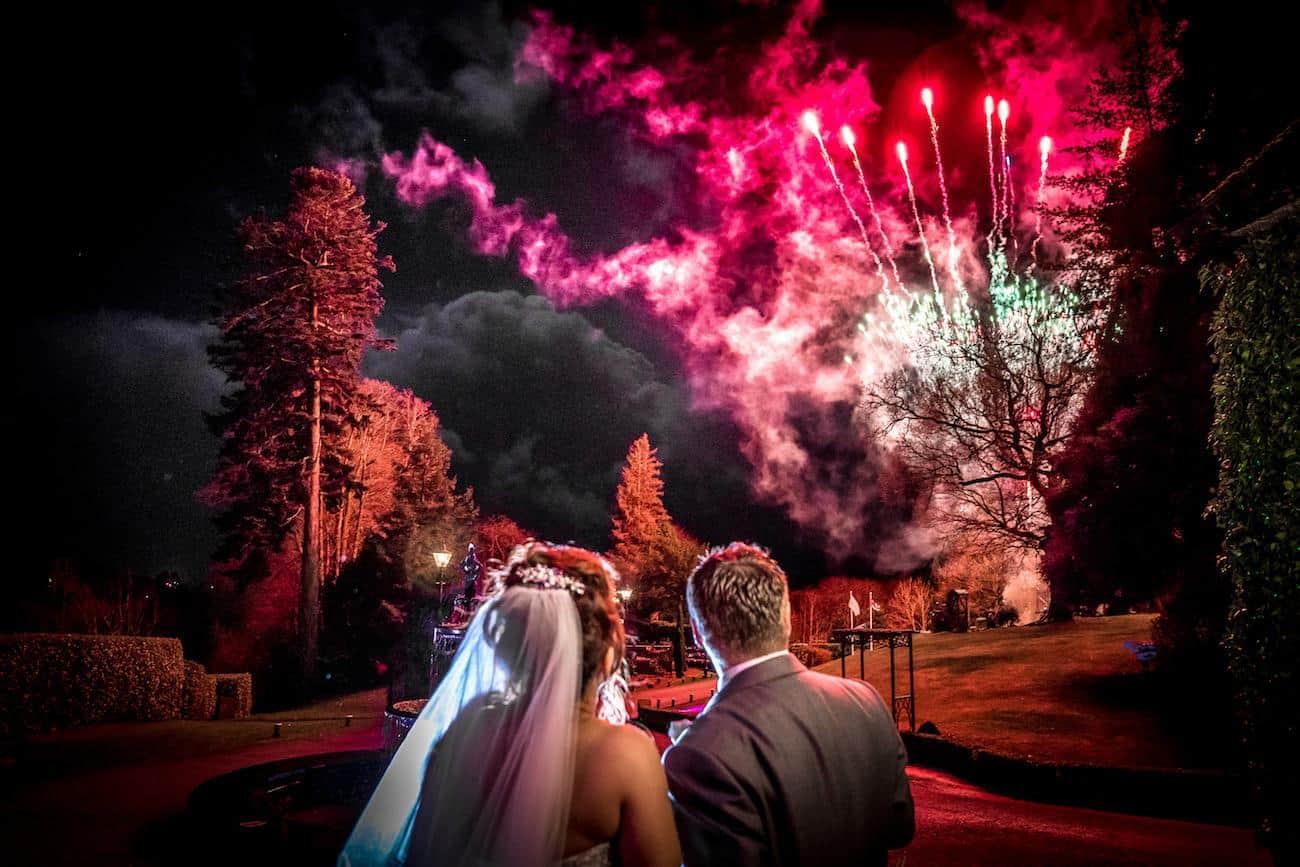 Wedding firework display Broadoaks