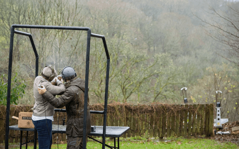 Clay pigeon shooting the lake district