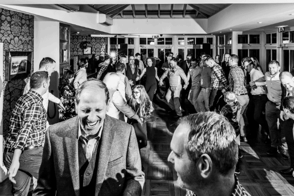 Scottish Ceilidh Dancing at Country Themed Wedding in the Lake District
