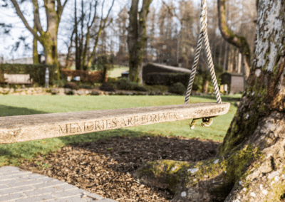 The Famous Lovers Swing at Broadoaks in Windermere