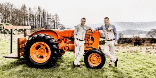 Tractor Wedding Car Gay Wedding Lake District